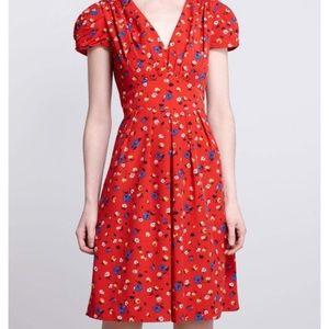 Hi There by Karen Walker Red Floral Dress